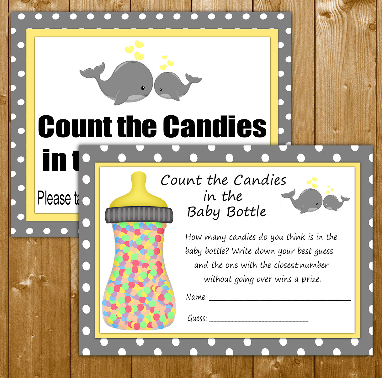 Candy Bottle Estimate Game - Free Baby Shower Games ...