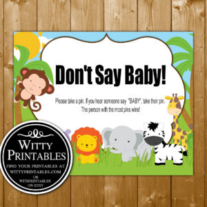 Safari Animals Baby Shower Printables Wittyprintables
