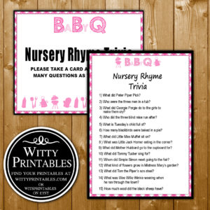 Bbq Theme For Girls Baby Shower Game Advice For Mommy To Be