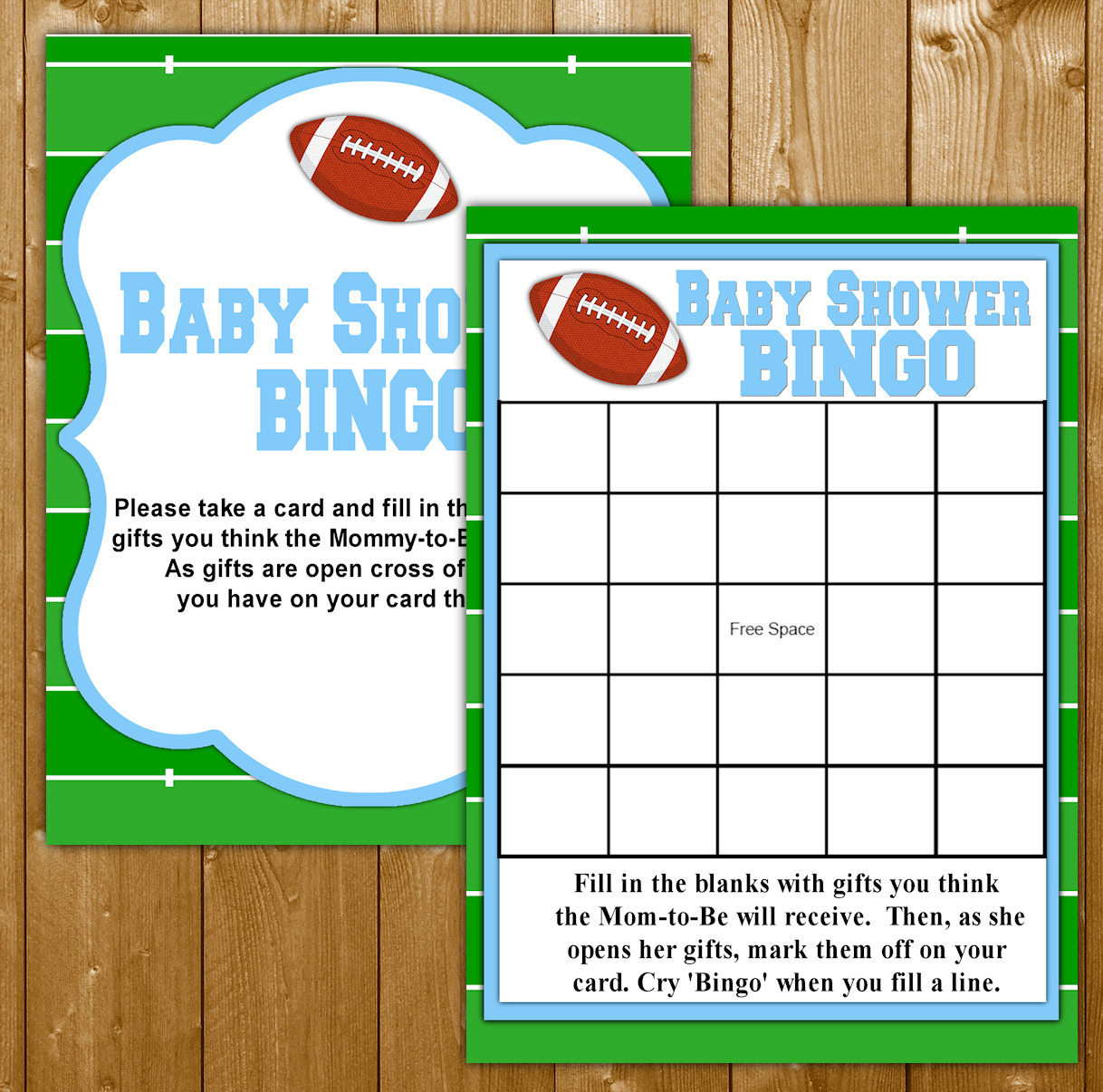 graphic relating to Free Printable Football Bingo Cards named Bingo Youngster Shower Activity Soccer Concept for Boy