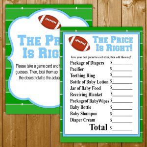 Football Baby Shower Printables Wittyprintables