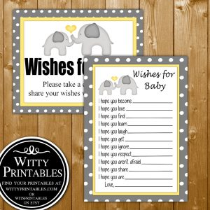 Advice For The Mommy To Be Baby Shower Game Printable Yellow