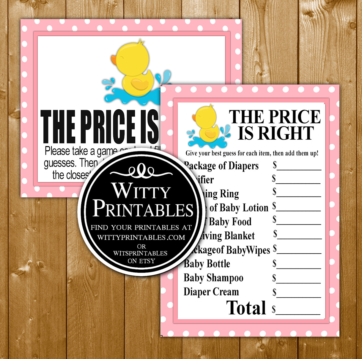 photograph about Baby Shower Price is Right Printable called Expense Is Straight Kid Shower Match Printable Red Duck Woman Topic